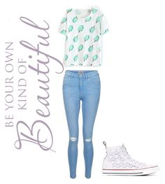 """""""Untitled #30"""" by bagoose ❤ liked on Polyvore featuring New Look and Converse"""