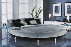 Modern round bed from RUF-Bett - the Circolo bed