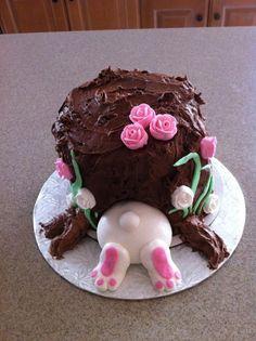 Haha , this is too CUTE!  Cute Bunny Cake