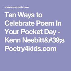 Poems - Kenn Nesbitt's Poetry4kids.com | Inspire: Poetry ...