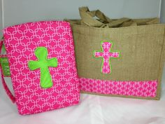 Bible Covers and Cross Bags Cross Bags, Bible Bag, Bible Covers, Christian Gifts, Bobs, Bookmarks, Bible Verses, Burlap, Reusable Tote Bags