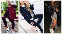 Cómo Combinar Zapatillas Deportivas Outfits Adidas Superstar Zapatillas de Moda 2016 Outfits Para Ir A Clase Styling Adidas Superstar How We Style Adidas Sup...