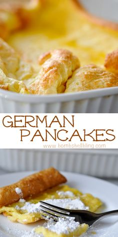 German Pancakes are our family's #1 go-to meal in a hurry!  Breakfast OR dinner!