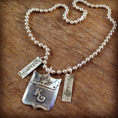 Custom brand and mothers necklace by Silo Silver