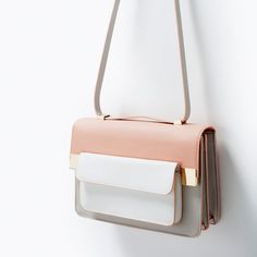 Mixed media messenger bag from ZARA. Saved to Bags&Wallets. Shop more products from ZARA on Wanelo. Fashion Handbags, Purses And Handbags, Fashion Bags, Zara Bags, Handmade Handbags, Backpack Purse, Crossbody Bag, Shopper, Cute Bags