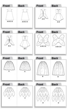 M4887 | Children's/Girls' Fairy Costumes | Halloween | McCall's Patterns
