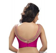 Pink cow neck sexy party wear blouse - Blouses - Saree,Blouse & more