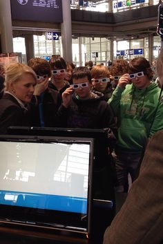 Nicole Herfurth, IBM Research - Zurich shows students a 3D model of an eletron-microscopic image of a Lithium/Air cathode, used in the Battery 500 project, at CeBIT 2012.    See the image here: www.flickr.com/photos/ibm_research_zurich/6800989251/