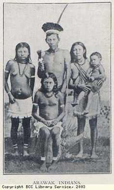 The original inhabitants of Jamaica, the Arawak Indians.