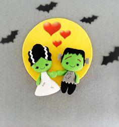 Halloween decoración novia de Frankenstein Creepy Cute por BelkaUA
