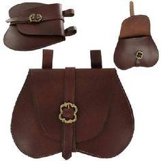 Renaissance Medieval Leather Hand Bag Pouch