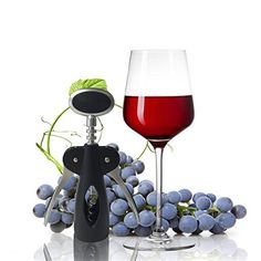 Wine Bottle Opener Stainless Steel Winged Style Ergonomic Corkscrew for Wine Enthusiast Waiters Bartenders * You can get more details by clicking on the image.