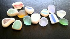 Vintage Pottery Charms Authentic Beach Finds Genuine Sea Glass Ceramic Gems Jq