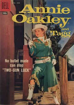 Annie Oakley is an American Western television series that fictionalized the life of famous sharpshooter Annie Oakley. It ran from January 1954 to February 1957 in syndication, for a total of 81 black and white episodes, each 25 minutes long. ABC showed reruns on Saturday and Sunday daytime from 1959 to 1960 and from 1964 to 1965.