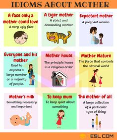 idioms about mothers