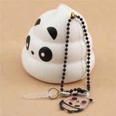 scented white Crazy Poo panda squishy by Puni Maru