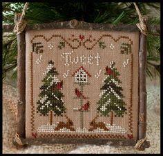 2011 Ornament 1 - Cardinal Winter - Cross Stitch Pattern