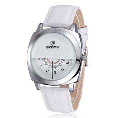23.00$  Buy here - http://ali6h5.shopchina.info/go.php?t=32675754328 - New Design Skone Brand Fashion Leather Strap Watch Sport Squar Dial Casual Men Watch Quartz Wristwatch reloj hombre  #aliexpress