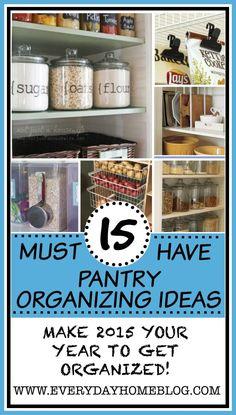 15 Amazing DIY Pantry Organizing Ideas !! The Everyday Home  #kitchen