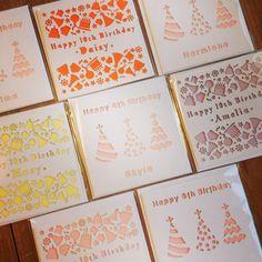 Laser cut birthday cards