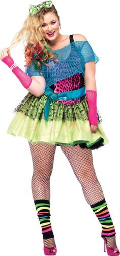 Adult Totally Tubular Tina 80s Costume Plus Size - Party City