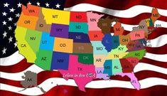 Wie heißen die Bundesstaaten der USA und ihre Hauptstädte   Familie ...