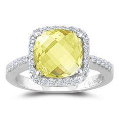 Lemon citrine ring #clever