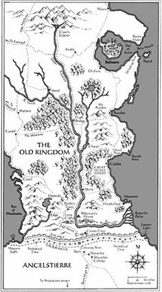 Map of the Old Kingdom from Garth Nix's Sabriel.