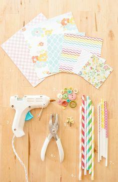 DIY molinillos de papel - herramientas