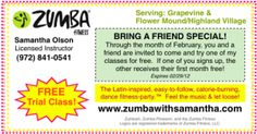 A sample coupon you could use for Zumba class