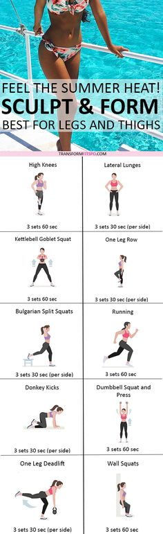 Repin and share if this workout gave you sexy summer legs! Read the post for all the workouts!