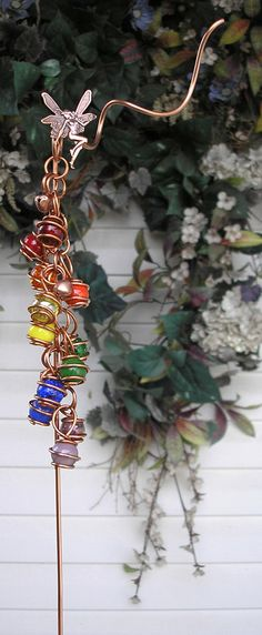 Rainbow Fairy Copper Glass Gypsy Wind Chimes / by DragonflyDreams1