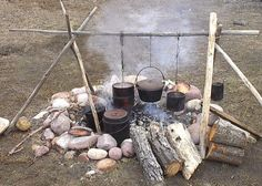 Primitive style camping cooking & recipes really interesting ways to keep meat and making oil cloth