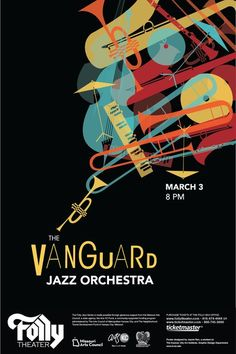 Vanguard Jazz Orchestra Poster by Jessie Ren, why do we always have to see the instruments. jazz is well known, we know what its like. Jazz Festival, Festival Posters, Concert Posters, Arte Jazz, Jazz Art, Graphic Design Posters, Graphic Design Illustration, Graphic Design Inspiration, Poster Jazz