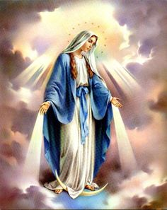 October - Month of the Most Holy Rosary Our Lady Of The Holy Rosary Novena Prayer My dearest Mother Mary, behold me, your ch. Mama Mary, Blessed Mother Mary, Blessed Virgin Mary, Virgin Mary Art, Queen Mother, Mother Teresa, Happy Mothers, Immaculée Conception, Assumption Of Mary