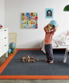 Take a look at this Storm Suit Yourself Quarter Border Rug Square Set by FLOR on #zulily today!