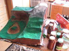 макет горного ландшафта из папье-маше