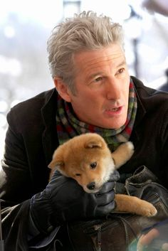 Hachi: A Dog's Tale, Richard Gere If Hachi: A Dog's Tale , about the bond between a professor (Richard Gere) and a lost Akita puppy, doesn't get you weepy, nothing will. See what else made EW's list of the best movies you've never seen and start renting Richard Gere, Beau Film, Akita Puppies, Akita Dog, Dog Stories, Great Stories, Hachi A Dogs Tale, Brad Pitt, Hot Men
