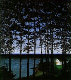 Sohlberg, Harald (1869-1935) - 1907 Fisherman's Cottage (Private Collection) by RasMarley, via Flickr