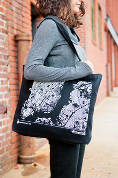 Awesome city map totes from Cityfabric Goods  including Manhattan and more! City  Grid 5cc0af82c0a3b