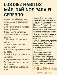 Healthy Tips, Healthy Habits, Spanish Inspirational Quotes, Mental And Emotional Health, Brain Health, Life Motivation, Natural Medicine, Words Quotes, Positive Vibes