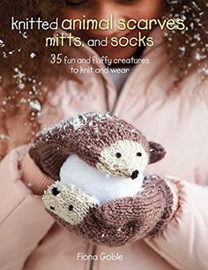 Cico Books Knitted Animal Scarves, Mitts is a knitting pattern book with animal themed accessories. Knitted Animal Scarves, Mitts, And Socks. Everyone loves animals, now you can add them to your wardrobe with this fun and fluffy collection of animal scar Crochet Bebe, Knit Or Crochet, Crochet Hats, Crochet Mittens, Scarf Crochet, Free Crochet, Fox Scarf, Scarf Knit, Knitted Animals