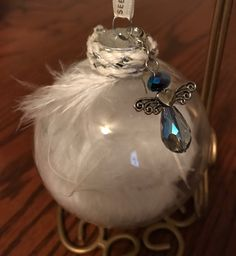 Completed angel ornament