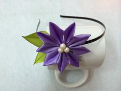 DIY Ribbon Kanzashi Flower Headband - Createsie