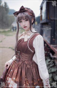 Avenue Denfer -Steam Castle- Steampunk Lolita Jumper Dress - Pre-order Closed