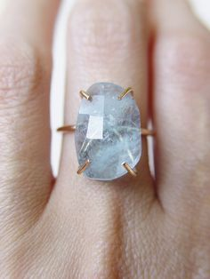 Aquamarine ring by #Friedasophie http://www.friedasophie.com