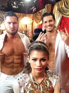 Dancing with the Stars week 8 Zendaya & Val & Gleb in salsa...love ValDaya they are amazing & they need to win!!!