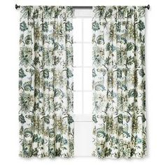 "Curtain Panel Greyson White, Green and Blue (55""x84"") - Homethreads™ : Target"