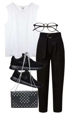 """Untitled #1443"" by tyra482 ❤ liked on Polyvore featuring NIKE and Yves Saint Laurent"