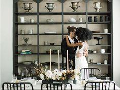 Modern Art: Minimalist Wedding Inspiration at a Catskills Mountain Home Wedding Tips For Vendors, Wedding Planning, Wedding Ideas, Wedding Advice, Wedding Things, Birch Wedding, Home Wedding, Wedding Reception, Led Vanity Lights